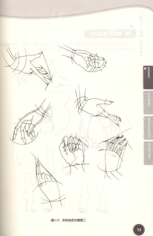 服装手绘手人体线稿