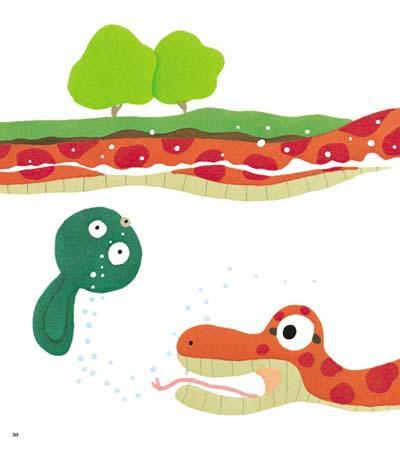 青蛙吃虫的手工制作