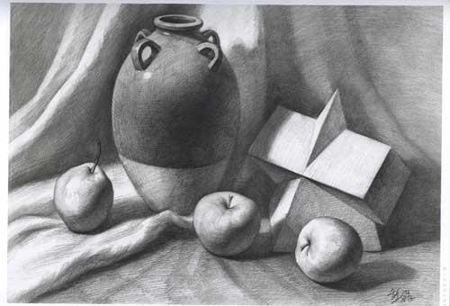 素描石膏几何体组合步骤图片图片