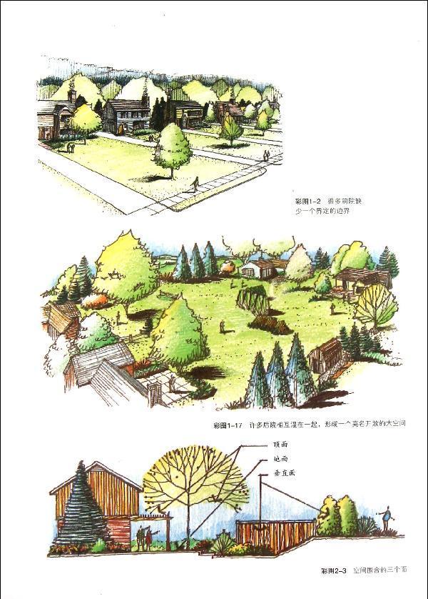 景观栅栏手绘线稿