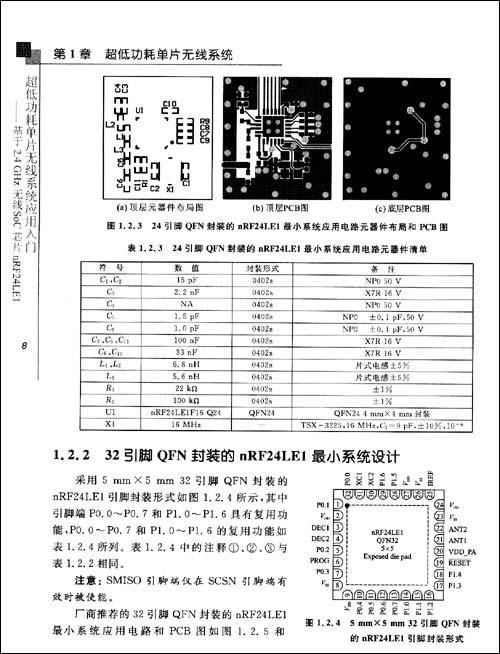 2.4 nrf24le1与计算机串口的连接电路 第2章 nrf24le1的mcu与应用 2.