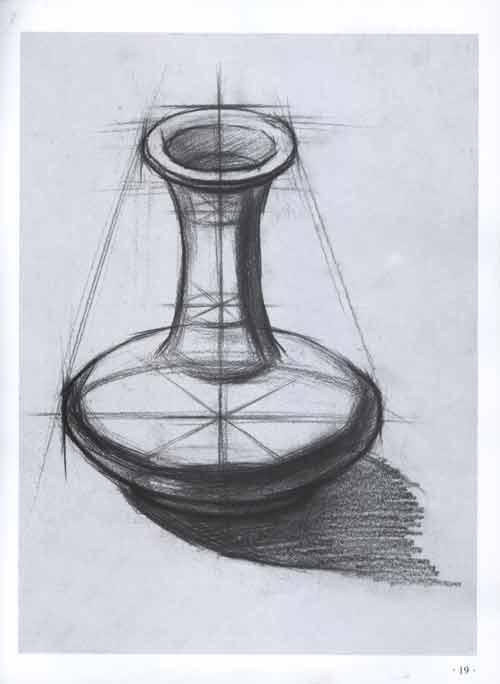 由最简单的结构几何,结构静物到石膏几何,素描静物,素描头像,人物速写