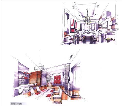 手绘快速表现系列—室内设计手绘