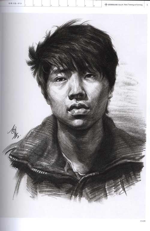 包括素描人物头像基础知识,人物头像明暗素描表现技法,青年步骤精解1
