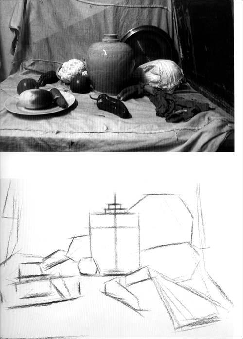 而素描静物就是静物画里最为基础的,起基石作用和研究作用手段.