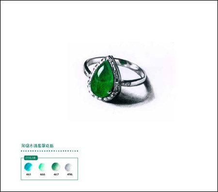 彩铅戒指教程图解