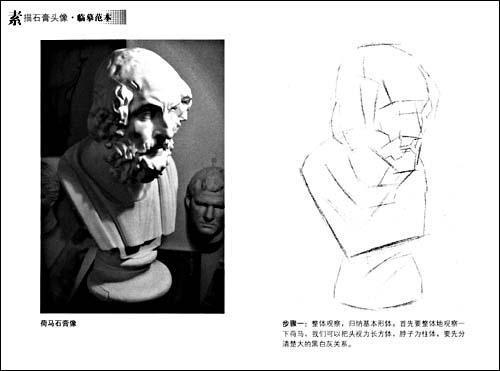 素描石膏头像·临摹范本-高敏-技法教程-文轩网