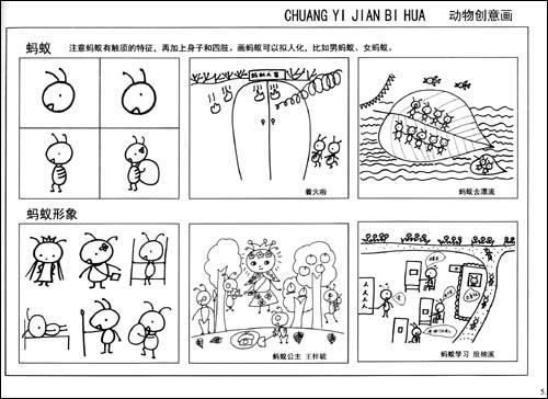 创意简笔画教程:儿童绘画启蒙-任笠中-幼儿启蒙-文轩网